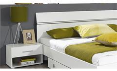Bettanlage Fellbach Bett Nako Schlafzimmerkombi  Schlafzimmerset in weiß 160x200