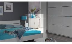 Kommode Starnberg Sideboard Anrichte Schrank für Schlafzimmer in weiß Hochglanz