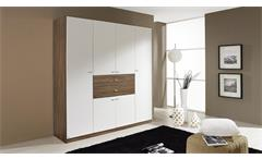 kleiderschrank landsberg schrank in wei und eiche stirling 181 cm. Black Bedroom Furniture Sets. Home Design Ideas