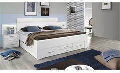 Bett Friedberg Schlafzimmerbett Doppelbett in weiß mit Stauraum 180x200 cm