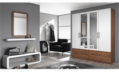 Kleiderschrank Hersbruck-Extra Schrank in weiß und Eiche Stirling 181