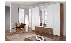 Kleiderschrank Gammas Schrank Schlafzimmerschrank in weiß und Eiche Stirling 271