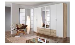 Kleiderschrank Gammas Schrank Schlafzimmerschrank in weiß und Eiche Sonoma 271
