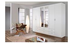 Kleiderschrank Gammas Schrank Schlafzimmerschrank in weiß mit Spiegel 271