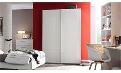 Schwebetürenschrank Minosa Kleiderschrank Schrank für Jugendzimmer in weiß 136