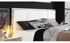 Bett Siegen Bettgestell Polsterbett für Schlafzimmer in weiß Stone grau 180x200