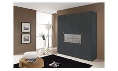 Kleiderschrank Landsberg-Extra Schrank für Schlafzimmer grau metallic Stone 181