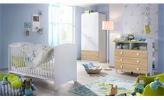 Babyzimmer Filipo Kinderzimmer Komplett Set weiß und Eiche Sonoma 3-teilig