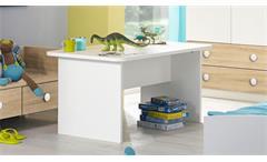 Couchtisch Filipo Beistelltisch Kinderzimmer Jugend Tisch in weiß 110x65 cm