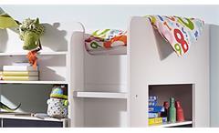 Hochbett Filipo Etagenbett Kinderbett Bett in weiß inkl. Lattenrost 90x200 cm