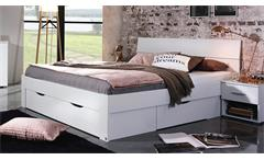 Futonbett Flexx Bett Bettgestell Doppelbett in weiß inkl. Schubkasten 180x200 cm