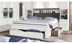 Bettanlage Lindau Bett Doppelbett Schlafzimmer in weiß mit Stauraum 180x200 cm