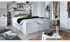 Bett Isotta Bettanlage Bettgestell Komfortbrett für Jugendzimmer in weiß 140x200