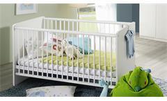 Babybett ALVARA Rauch Möbel alpinweiß 70x140 mit Lattenrost