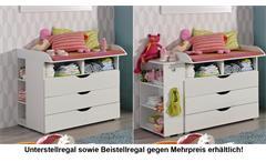 Wickelkommode Alvara alpinweiß Kommode Babyzimmer Wickeltisch 3 Schubkästen