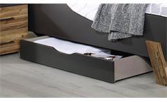 Bettkasten TOKIO grau-metallic mit Rollen für Bett 140x200 cm
