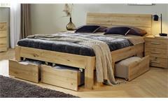 Doppelbett FLEXX in Eiche Artisan Dekor inkl. Bettschubkästen