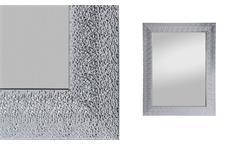 Spiegel ROSI 55x70 cm Rahmenspiegel in Metalllook silber