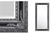 Spiegel Isa 100x200 Wandspiegel Rahmenspiegel schwarz silber Facette Dekospiegel