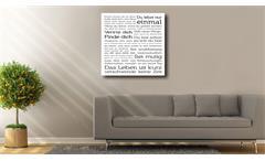 Deko Panel ADORA Motiv Spruch Du lebst nur einmal 50x50 cm