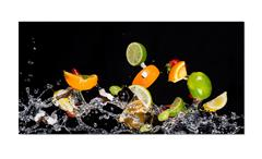Deko Panel Grap Wandbild Motiv Fruchtsalat Bild Dekobild 50x100 cm