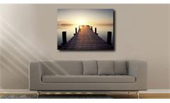 Leinwandbild Malik Wandbild Motiv Meer sehen Bild Dekobild 60x80 cm