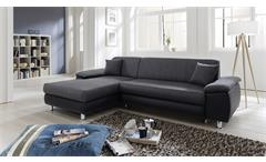 Wohnlandschaft Mexico Ecksofa Sofa Polstermöbel in grau und schwarz