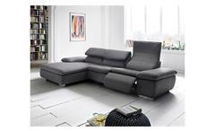 Ecksofa TEXAS Wohnlandschaft Sofa in grau mit Relaxfunktion
