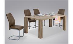 Esstisch Max I Esszimmertisch Tisch Esszimmer in Eiche grau 160x90 cm