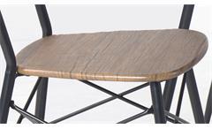 Essgruppe Lara Tischgruppe in Eiche Metall schwarz lackiert Esszimmer Sitzgruppe