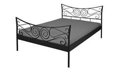 Bettgestell JUSTINE Bett Gestell Metall schwarz 140x200 cm