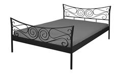 Bettgestell JUSTINE Bett Gestell Metall schwarz 180x200 cm