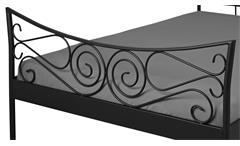 Doppelbett JUSTINE Bett Gestell Metall schwarz 180x200 cm
