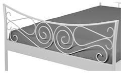 Doppelbett JUSTINE Bett Gestell Metall weiß 180x200 cm