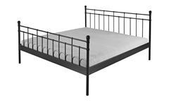 Bettgestell VERENA Bett Gestell Metall schwarz 140x200 cm