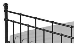 Bettgestell Verena Bett Metall schwarz Metallbett Schlafzimmerbett 140x200 cm