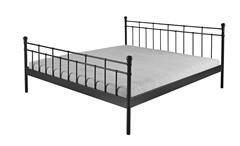 Doppelbett Verena Bett Metall schwarz lackiert Metallbett Bettgestell 180x200 cm