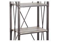 Standregal Lagerregal Büroregal Buffalo Metall schwarz Treibholzoptik 160 cm