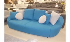 Big Sofa LOUNGE Couch in türkis mit Schlaffunktion
