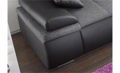 Ecksofa Celina Sofa Couch in schwarz und grau inkl. Funktionen + Kissen 274x180