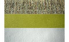 Ecksofa Solaire Eckgarnitur in weiß und grün mit Funktionen OT links 236x260