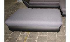 Hocker MOON schwarz und grau inkl. Bettkasten 152x85