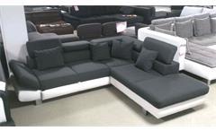 Wohnlandschaft Sun in schwarz weiß 236x265 mit Relaxfunktion und Bettfunktion