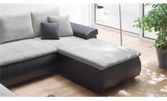Wohnlandschaft Hemmingway Ecksofa schwarz grau mit Bettfunktion und Bettkasten