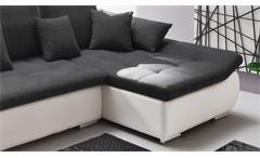 Ecksofa Pisa Eckgarnitur weiß anthrazit mit Bettfunktion und Bettkasten 300x165