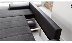 Ecksofa Celina Sofa Couch schwarz grau Schlaffunktion Bettkasten Nosagfederung