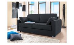Sofa TESO 2-Sitzer Stoff anthrazit mit Federkern Bettkasten