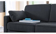 Sofa 2-Sitzer Polstersofa Couch Teso System in Stoff anthrazit mit Bettkasten