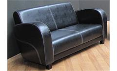 2er Sofa ANTIS 2 Sitzer Polstermöbel in Antik schwarz 153