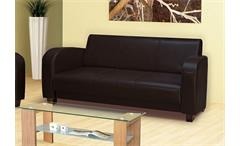 3er Sofa ANTIS Couch Polstermöbel in Antik braun 190 cm